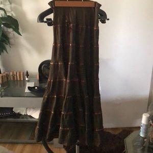 Beautiful Betsy Johnson Bohemian Skirt SZ 4 Brown